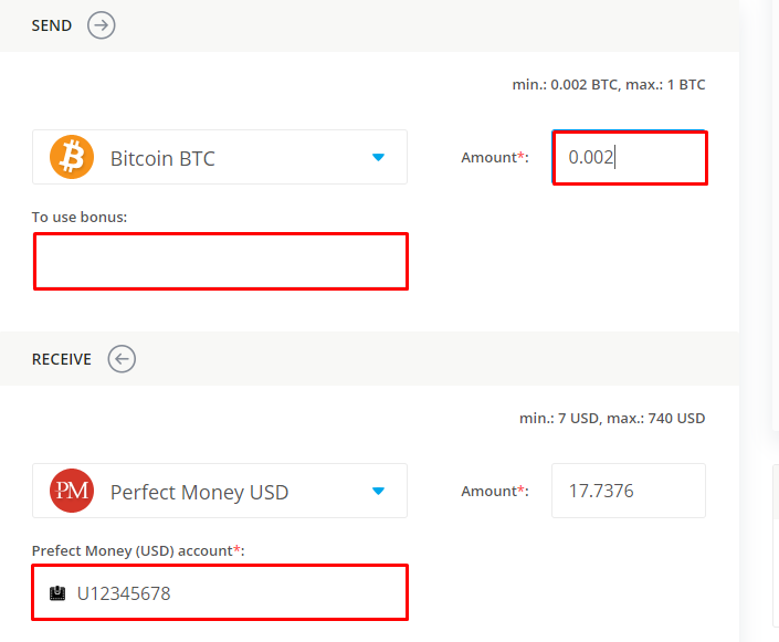 data on exchanging bitcoin for perfect money