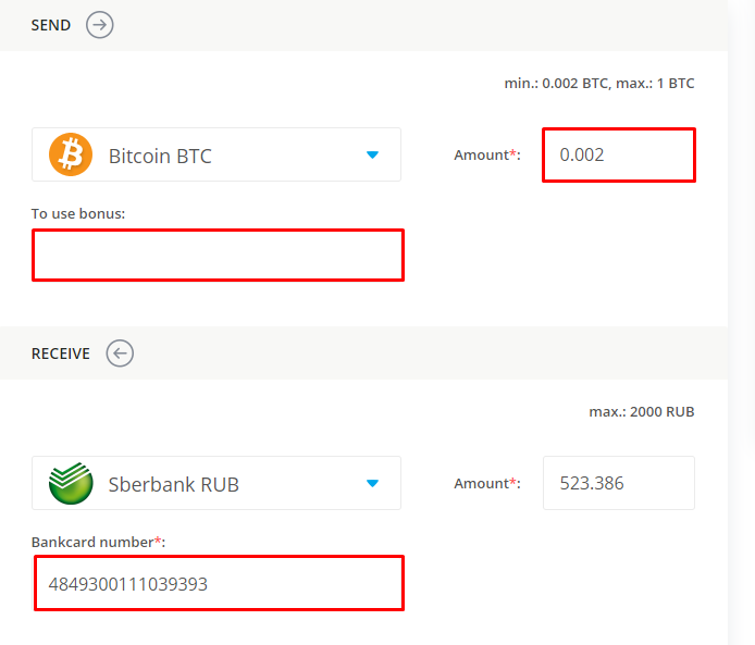data on exchanging bitcoin for sberbank