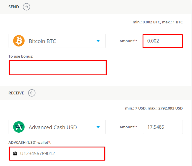 data on exchanging bitcoin for advanced cash