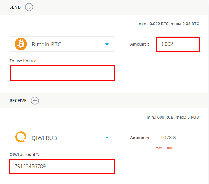 data on exchanging bitcoin for qiwi